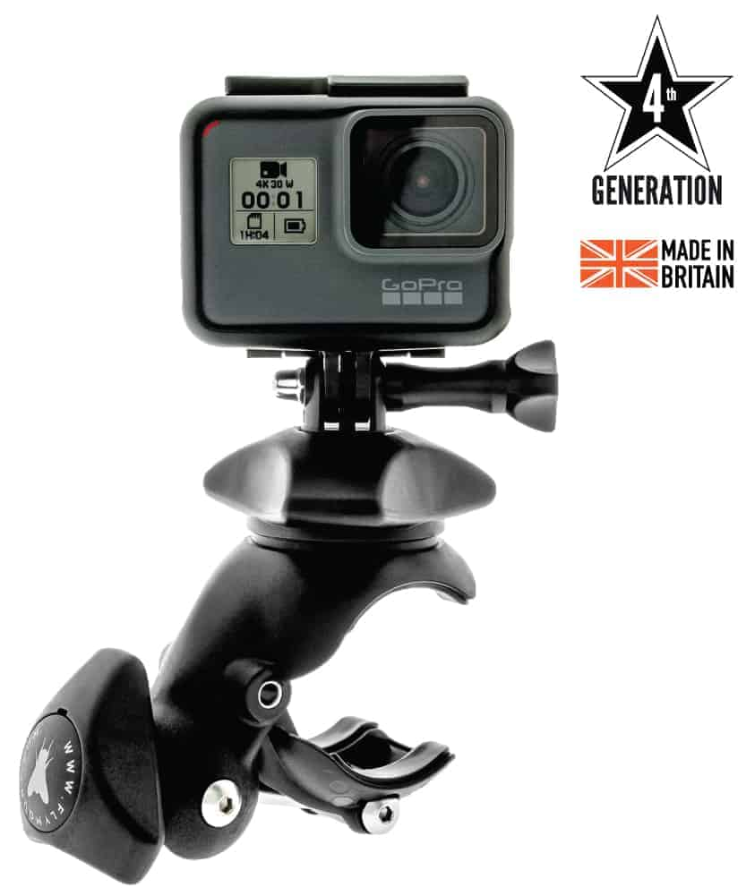 Flymount Generation 4 action camera mount with GoPro 5