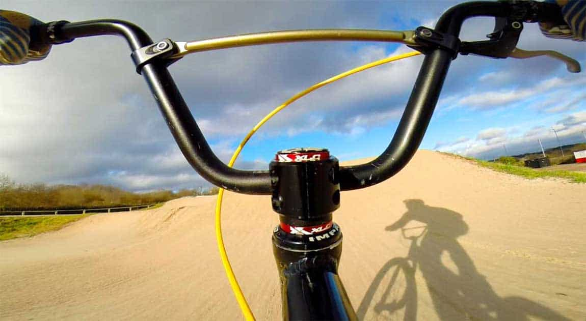 Flymount action camera mount on BMX bike