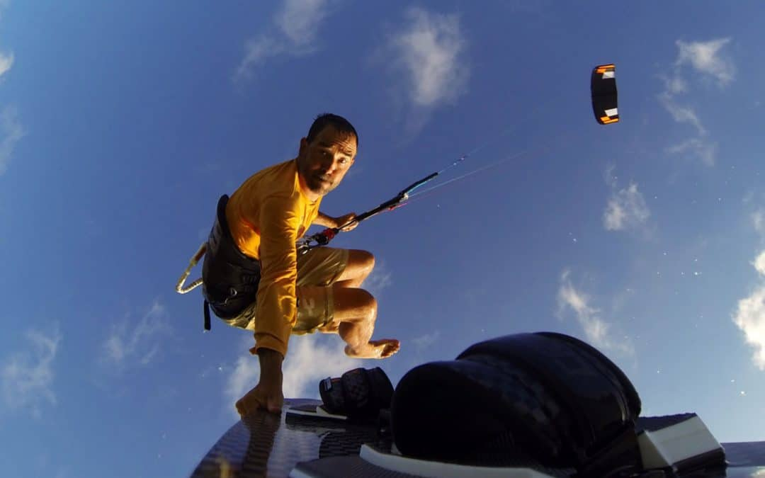 Jeff Howard shooting Kiteboard with Flymount