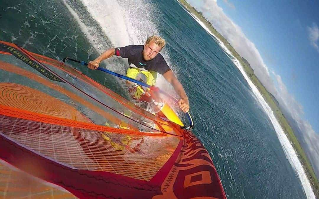Lars Peterson and the JP/Pryde team shoot new Flymount windsurfing video