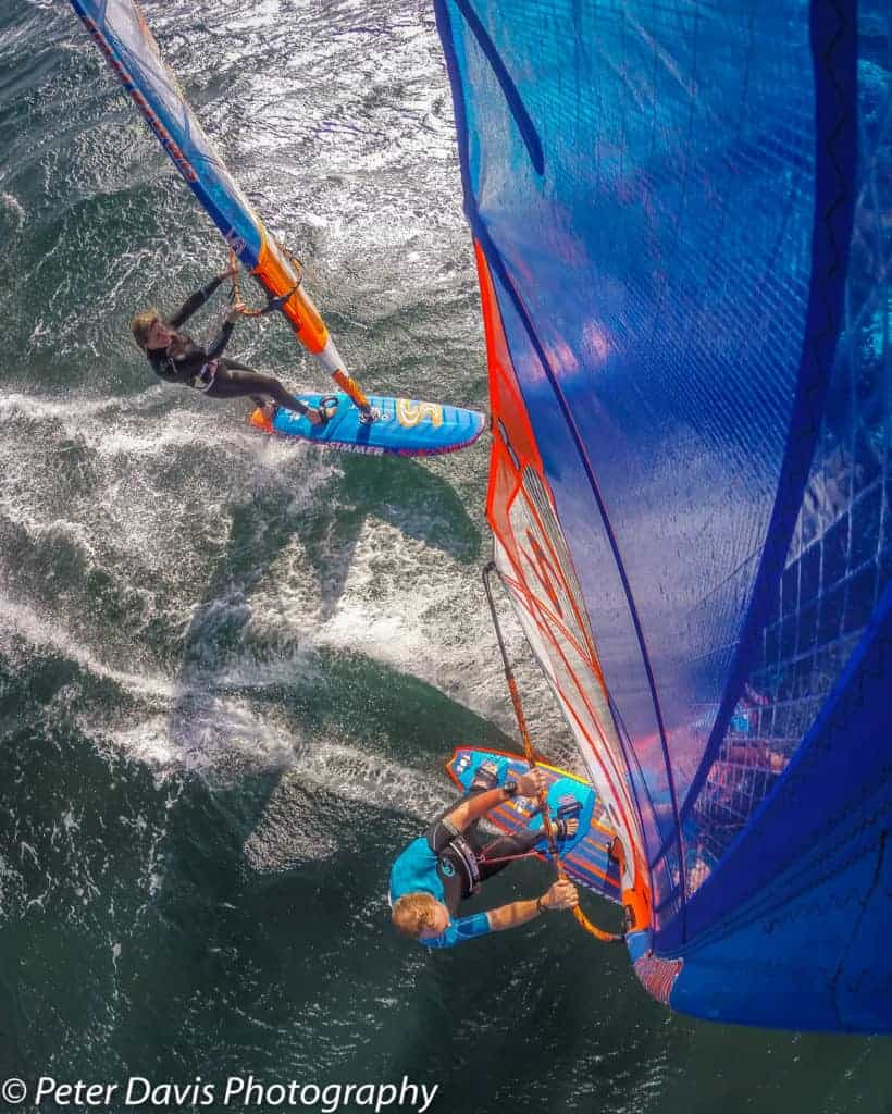 Pete and Zara Davis, El Medano, Tenerife. Shot with a GoPro and Flymount combination, Flymount is world's best windsurfing action camera mount