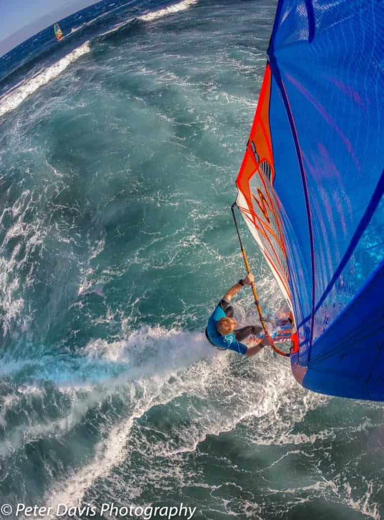 Pete Davis, El Medano, Tenerife. Shot with a GoPro and Flymount combination, Flymount is world's best windsurfing action camera mount