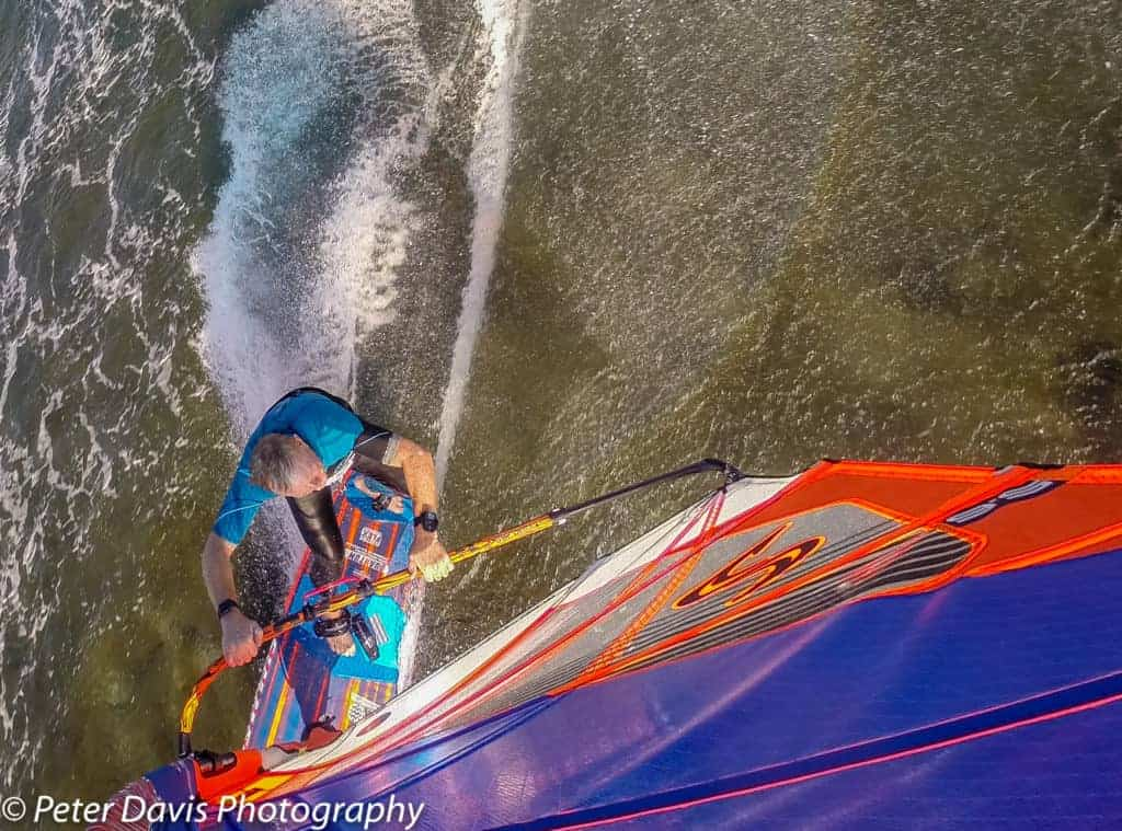 Shot with a GoPro and Flymount combination, Flymount is world's best windsurfing action camera mount