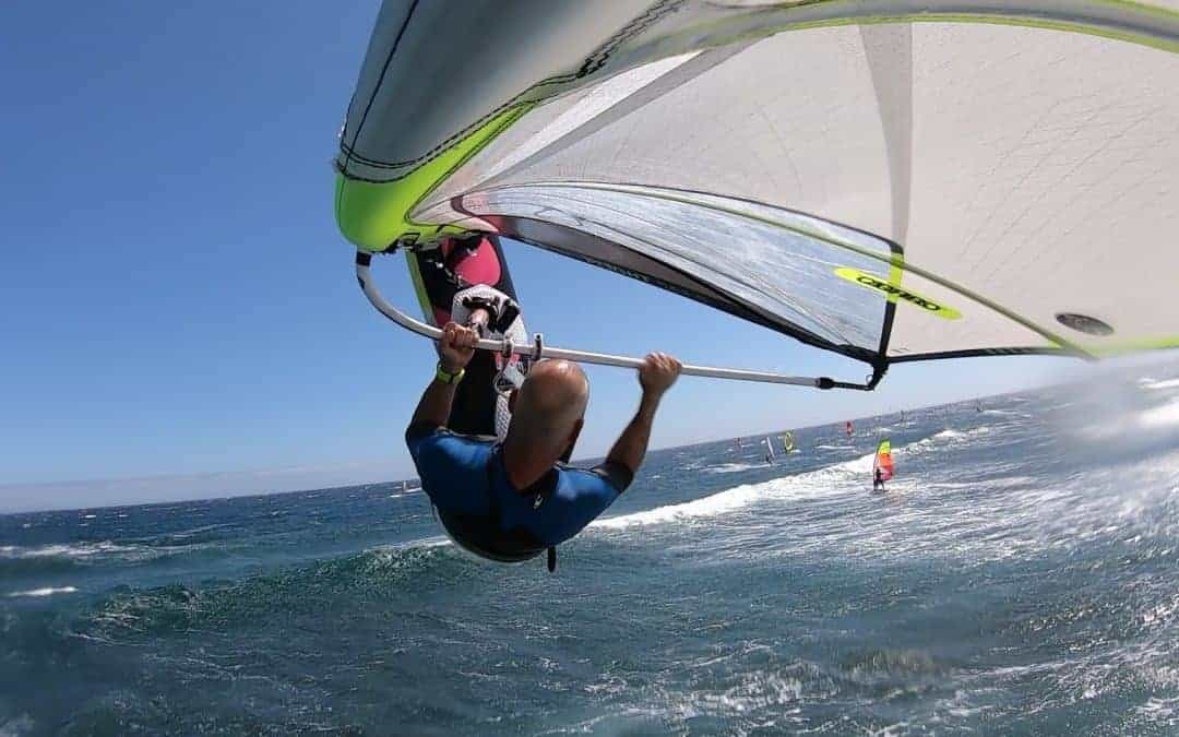 Nick Van Remoortel sails in Tenerife with Flymount